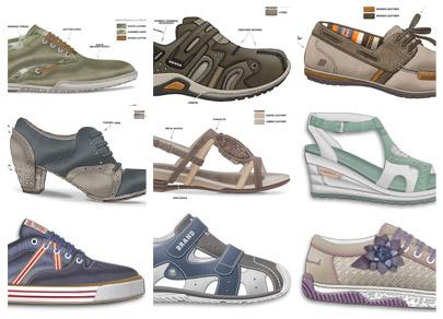 disegno tecnico scarpe